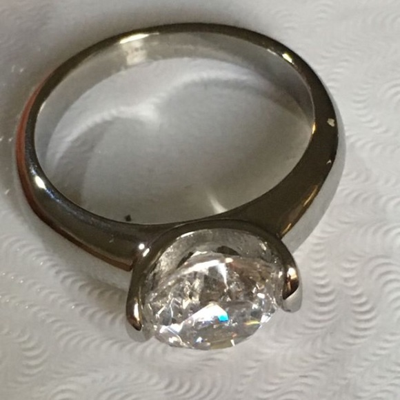 Qvc Jewelry Steel By Design Diamonique Ring Size 6 Poshmark